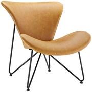 "Modway Glide 32""W Vinyl Lounge Chair, Brown (EEI-1807-TAN)"