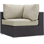 Modway Convene Outdoor Patio Corner Chair Chair, Espresso Beige (EEI-1840-EXP-BEI)