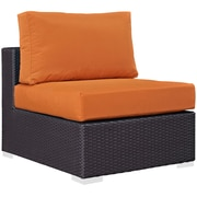 "Modway Convene 35"" Fabric Armless Chair, Espresso Orange (EEI-1910-EXP-ORA)"