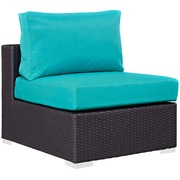 "Modway Convene 28.5""W Armless Patio Chair with Fabric Cushion, Green (EEI-1910-EXP-TRQ)"