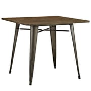 "Modway 36""L Wood Dining Table, Brown (EEI-2036-BRN)"