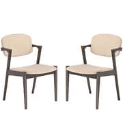 """Modway Spunk 21""""W Linen Armchairs, Oatmeal, 2/Set (EEI-2045-WAL-BEI-SET)"""