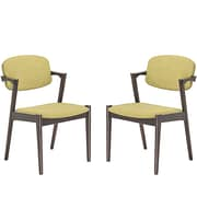"Modway Spunk 52""Linen Dining Arm Chairs, Set of 2, Green (EEI-2045-WAL-GRN-SET)"