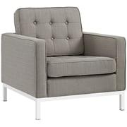 "Modway Loft 31"" Fabric Armchair, White (EEI-2050-GRA)"