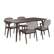 "Modway 71""L Wood Dining Table, Walnut Gray (EEI-2066-WAL-GRY-SET)"