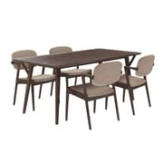 Modway 71'' Wood Dining Table, Walnut Latte (EEI-2066-WAL-LAT-SET)