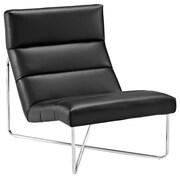 "Modway Reach 37.5""L Vinyl Lounge Chair, Black (EEI-2080-BLK)"