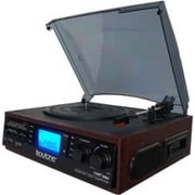 Boytone™ BT-19DJM-C 3-Speed Record Turntable System with AM-FM Radio, Cherry Wood