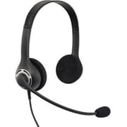 VXi Envoy™ 2031U Wired Over-the-Head Stereo Office Headset with Mic, Black, Bulk