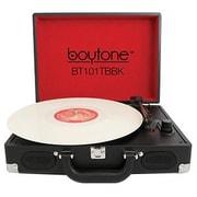 boytone  Mobile Briefcase Record Turntable, Black (BT-101TBBK)