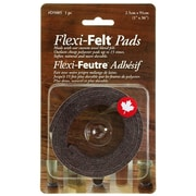 "Flexi-Felt D5005B 1"" x 36"" Industrial Adhesive Felt Strip, Dark Colour"