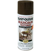 Rust-Oleum 12 oz Stops Rust Multicolor Textured Aerosol Paint, Autumn Brown (SRM-3523)
