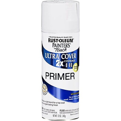 Rust Oleum Painter s Touch 12 oz Ultra Cover Aerosol Paint White Primer PTUC249 058