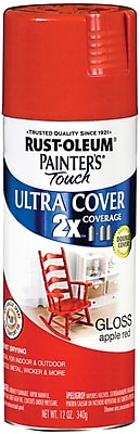 Rust Oleum Painter s Touch 12 oz Ultra Cover Aerosol Paint Apple Red PTUC249 124