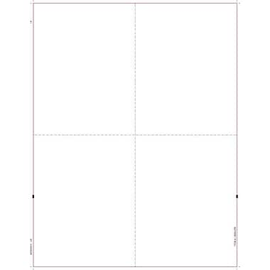 TOPS® W-2 Tax Form, 1 Part, Blank face, w/backers, White, 8 1/2