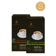 Gourmesso Coffee Small Nespresso-Compatible Lungo Capsules Bundle, 100 Capsules/Bundle (11003)
