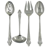Ginkgo Fleur de Lis  Stainless Steel 4 Piece Hostess Set
