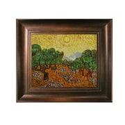 Tori Home Van Gogh Olive Trees with Yellow Sun and Sky Hand Painted Oil on Canvas Wall Art