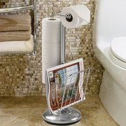 Better Living Products The Toilet Caddy Free Standing Toilet Holder; Chrome