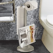Better Living Products The Toilet Caddy Free Standing Toilet Holder; Satin Nickel