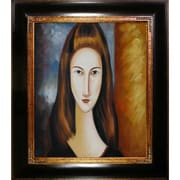 Tori Home Portrait of Jeanne Hebuterne by Amedeo Modigliani Framed Original Painting
