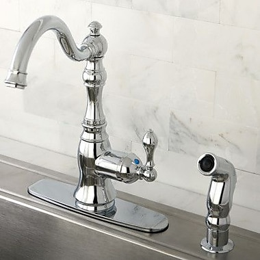 Kingston Brass American Classic Gourmetier Single Handle Kitchen Faucet; Polished Chrome