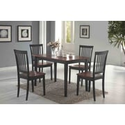 Wildon Home   Eagar 5 Piece Dining Set; Dark and Cherry