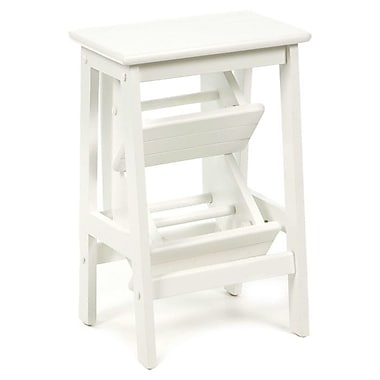 Boraam 3-Step Wood Step Stool; White