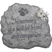 Evergreen Flag & Garden In Memory of A Faithful Friend and Companion Stepping Stone