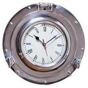 Cape Craftsmen 11'' Metal Porthole Wall Clock