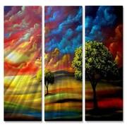 All My Walls 'BEAUTIFUL' by Matthew Hamblen 3 Piece Graphic Art Plaque Set