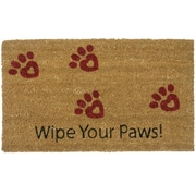 Rubber-Cal, Inc. Wipe Your Paws! Animal Doormat