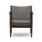 Wholesale Interiors Baxton Studio Shakespeare Mid-Century Upholstered Leisure Arm Chair; Grey