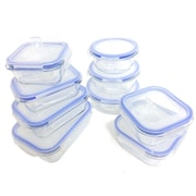 Kinetic Glasslock Elements 18 Piece Oven Safe Glass Food Storage Container Set with Vented Lid