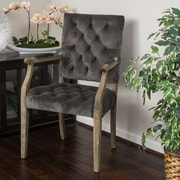 Home Loft Concepts Foster Arm Chair; Charcoal