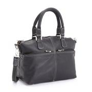 Royce Leather Luxury 5'' Weekender Duffel Bag; Black