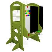 Little Partners Magnetic Double Sided Board Easel; Apple Green