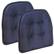 Klear Vu Omega Gripper Tufted Chair Cushion (Set of 2); Grapemist