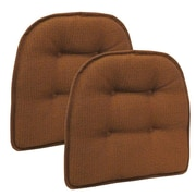 Klear Vu Omega Gripper Tufted Chair Cushion (Set of 2); Pumpkin