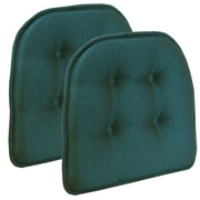 Klear Vu Omega Gripper Tufted Chair Cushion (Set of 2); Aqua