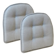 Klear Vu Omega Gripper Tufted Chair Cushion (Set of 2); Gray