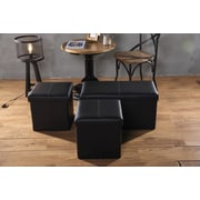 Creative Living 3 Piece Upholstered Storage Bench and Ottoman Set