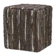 Evergreen Enterprises, Inc Home on the Range Leather Pouf