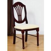 Benkel Seating Side Chair; Dark Mahogany