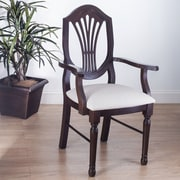 Benkel Seating Elegant Arm Chair; Walnut
