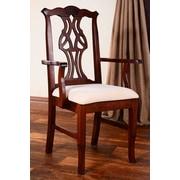 Benkel Seating Chippendale Arm Chair; Medium Oak