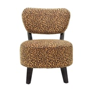 BestMasterFurniture Leopard Rounded Seat Slipper Chair