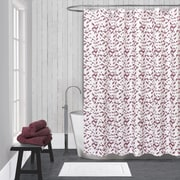LaMont Kinetic Cotton Shower Curtain; White / Red