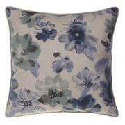 14 Karat Home Inc. Flora Throw Pillow; Harbor/Indigo/Chestnut