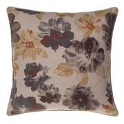14 Karat Home Inc. Flora Throw Pillow; Iron/Curry/Spice